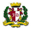 Denman's PTSA Logo, a shield with JD, cypress garland, and a crown