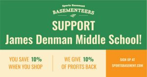 SportsBasement Basementeers support James Denman Middle School